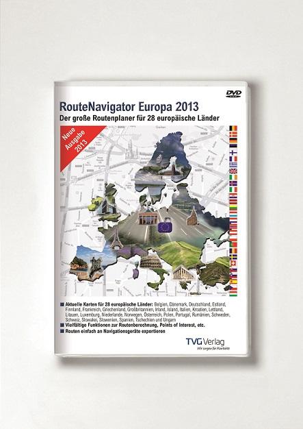 Mit dem neuen RouteNavigator 2013 quer durch Europa reisen