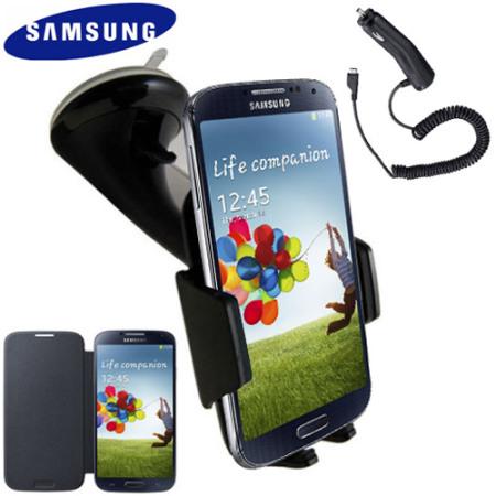 Original Galaxy S4 Zubehör schützt und unterstützt das Smartphone