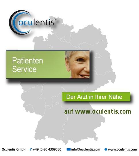 Oculentis' Arztfinder: Der Augenarzt in Ihrer Nähe