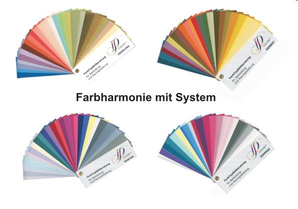 Neue Farbberatung schnell und effektiv: Innovatives Farbfächer Set mit Typfarben