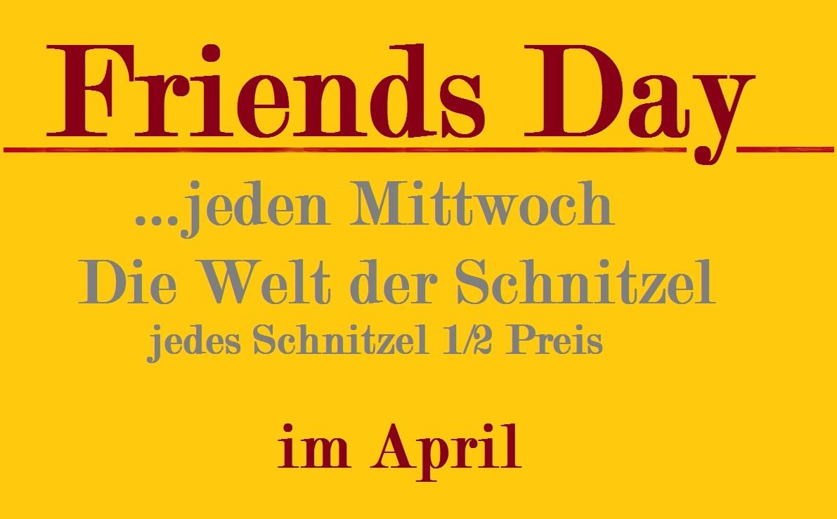 Günstig Essen am Friends Day der neuen Aktion im Restaurant Molino