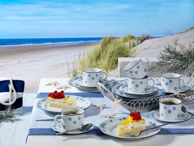 Maritimes Flair auf der Kaffeetafel