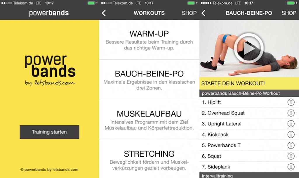 Train smarter! – Dein tägliches Workout mit der neuen powerbands-App