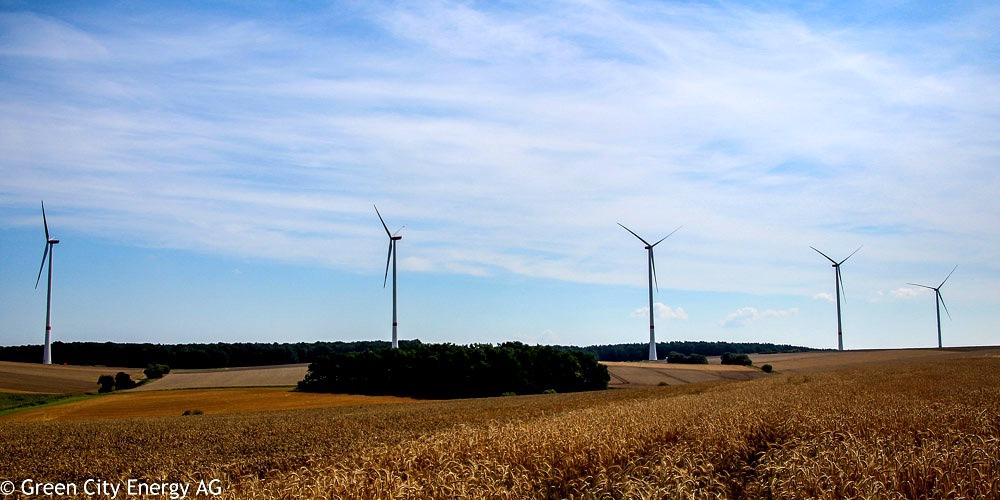 Windpark Maßbach von Green City Energy fertiggestellt und am Netz