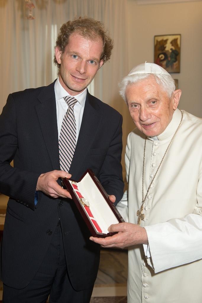 Richard Borek jun. zu Gast bei Papst emeritus Benedikt XVI.