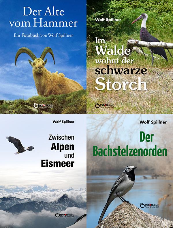 Geschichten von Menschen und von Tieren - EDITION digital bringt 16 Bücher von Wolf Spillner heraus