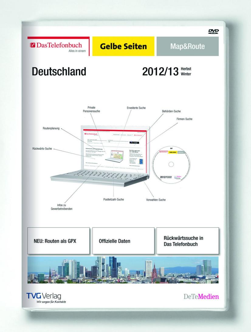 Das Telefonbuch Gelbe Seiten Map&Route Herbst/Winter 2012/2013: Die Kombination für mehr Produktivität im Büro!