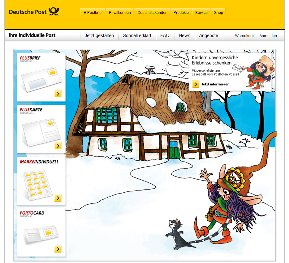 Deutsche Post Individuell im Kinderbriefe Design